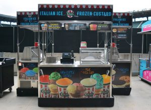 custom food booth display